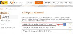 Registro sin certificado electrónico