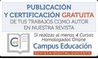 Publicación y Certificación como Autor