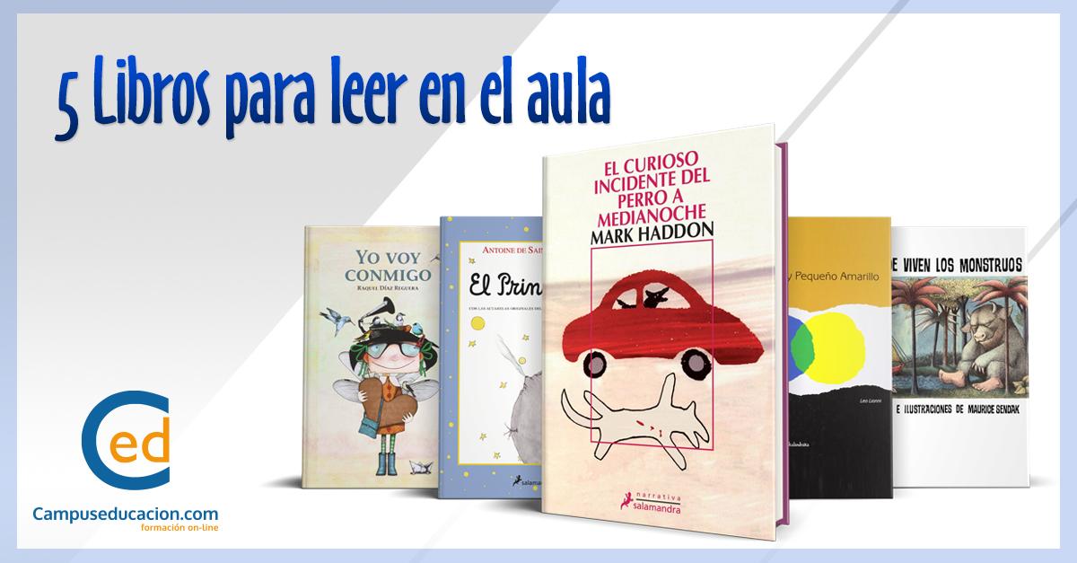 5 libros aula Imagen campuseduacion.com