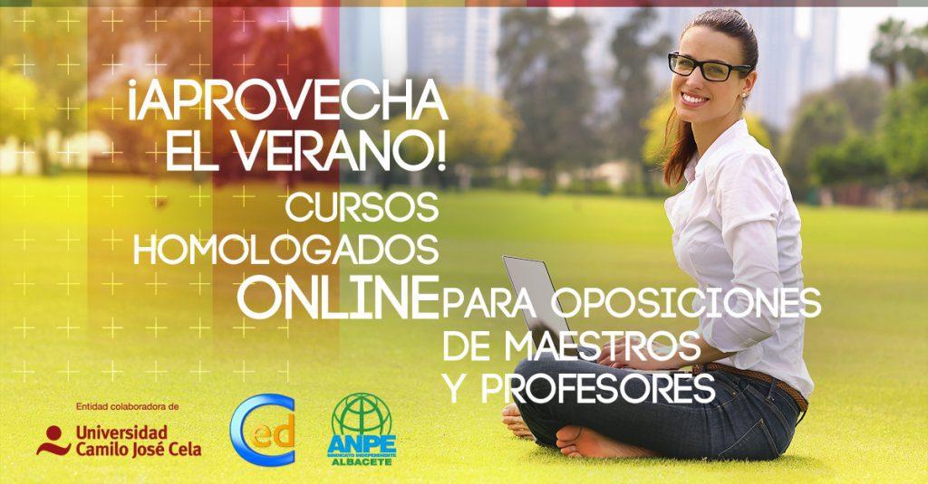 Cursos homologados online para oposiciones de maestros y profesores de Campuseducacion.com