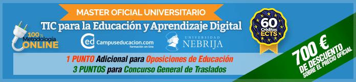 Máster Oficial Universitario Tecnologías de la Información y la Comunicación para la Educación y Aprendizaje Digital