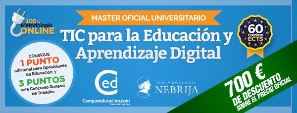 master oficial online TIC educacion