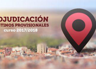destinos provisionales Curso 2017/2018