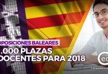 oposiciones baleares 2018 plazas