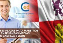 oposiciones castilla y león plazas secundaria maestros