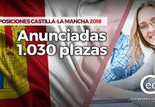 castilla-la mancha oposiciones 2018 plazas