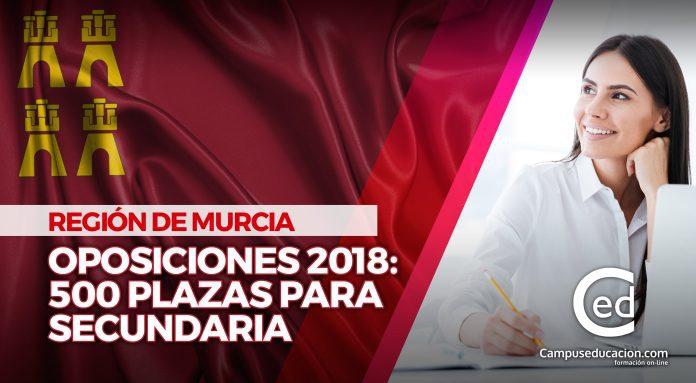 oposiciones murcia 2018 plazas secundaria