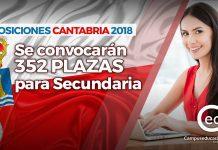 cantabria oposiciones 2018 plazas secundaria