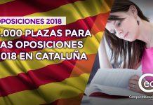 Oposiciones cataluña 2018