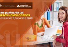 cursos homologados oposiciones 2018