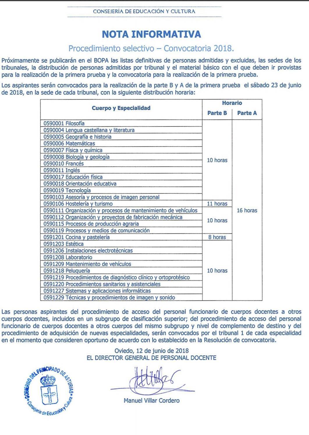 Calendario Oposiciones 2019 Andalucia.Oposiciones 2018 Informacion Sobre El Desarrollo De Las Pruebas