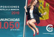 Oposiciones Castilla-La Mancha 2019 plazas
