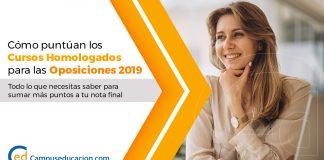 cursos homologados oposiciones 2019