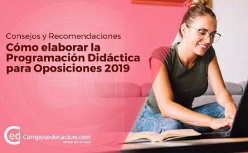 elaborar la programación didáctica para oposiciones 2019