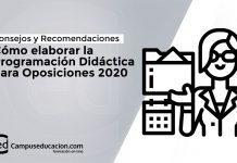 Programación Didáctica para Opisiciones 2020