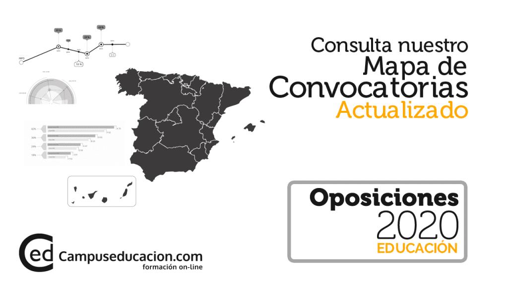 mapa oposiciones 2020
