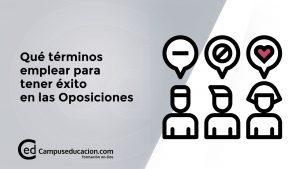 términos éxito oposiciones