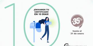 Recibir tu certificado en 10 días