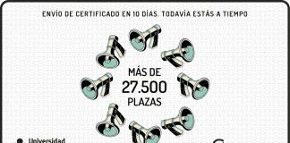 más de 27500 plazas