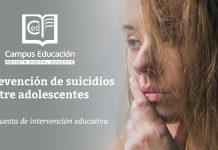prevención del suicidio entre adolescentes