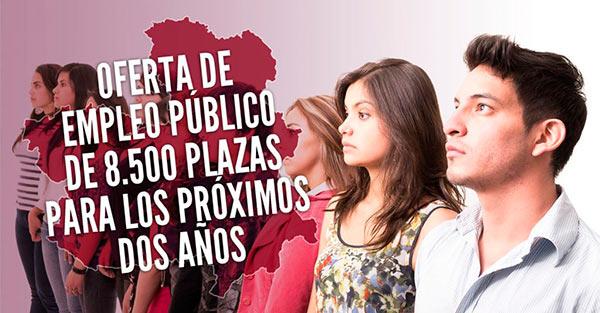 OFERTA DE EMPLEO PÚBLICO DE 8.500 PLAZAS PARA LOS PRÓXIMOS DOS AÑOS