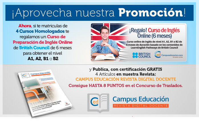 Promoción para Cursos Homologados Oposiciones Educación
