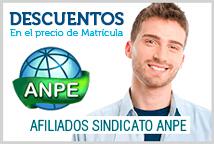 Descuentos en Precio de Matrícula para Afiliados al Sindicato ANPE y familiares