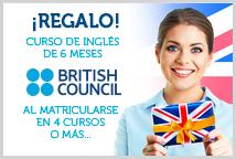Regalo de un Curso de Inglés Online de 6 Meses de British Council para preparar el examen de A1, A2, B1 o B2