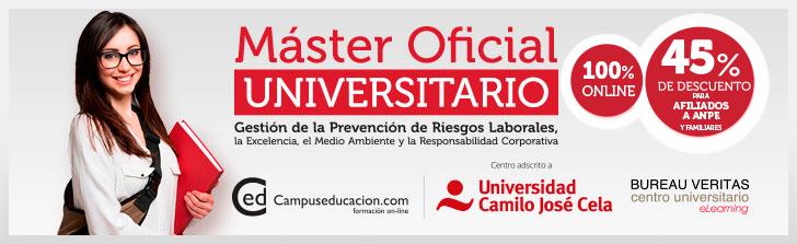 Máster Oficial Online Prevención de Riesgos Laborales
