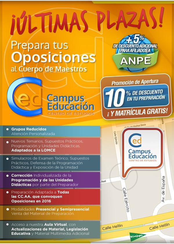 Prepara tus Oposiciones al Cuerpo de Maestros con Campuseducacion.com