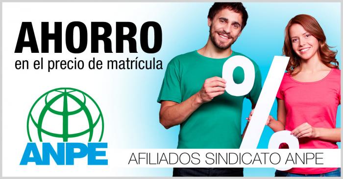 Descuentos del 30% en cursos ANPE y ANPE Albacete.