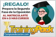 Regalo del Training Pack. Programa de entrenamiento para la segunda fase de oposiciones.